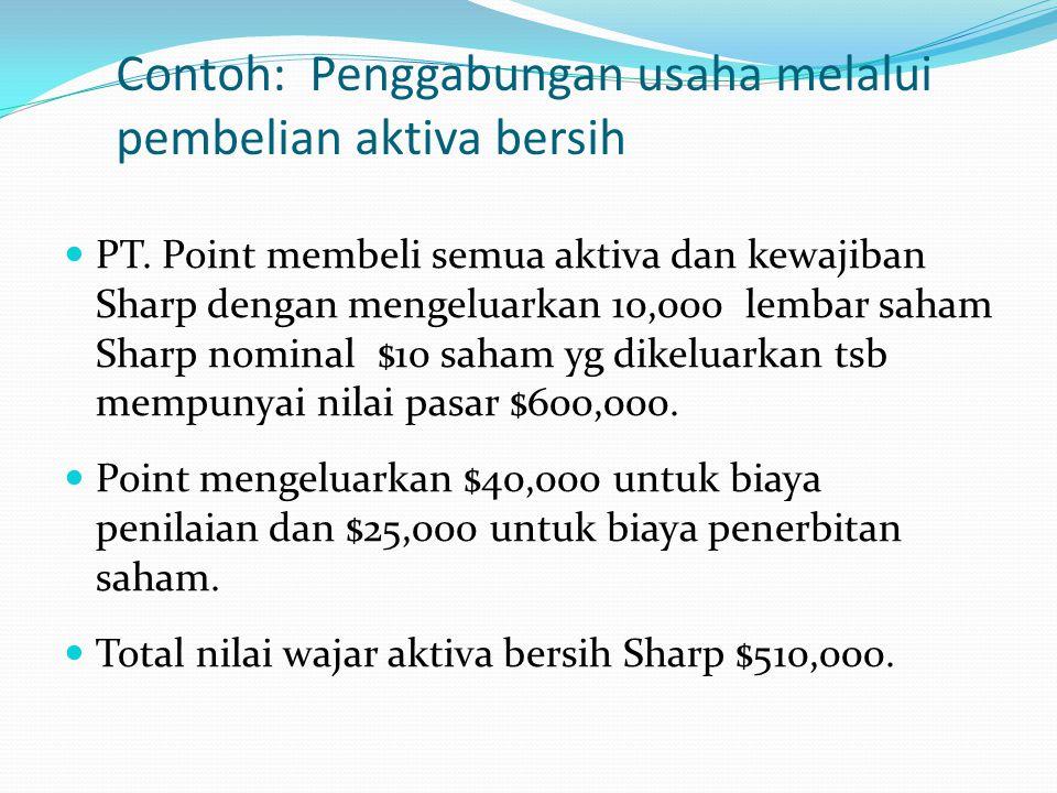 Misalnya pada contoh di atas aktiva lain-lain milik PT Bunga dan PT Mawar berturut – turut Rp 750.000.000 dan Rp 290.000.000. Jika kedua perusahaan me