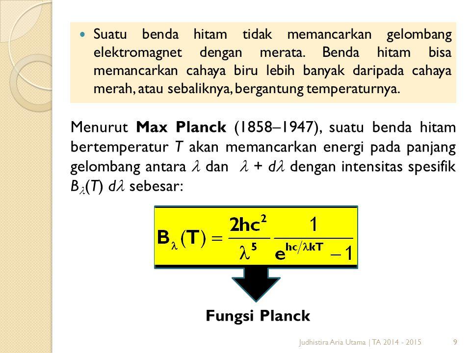 9 Suatu benda hitam tidak memancarkan gelombang elektromagnet dengan merata.