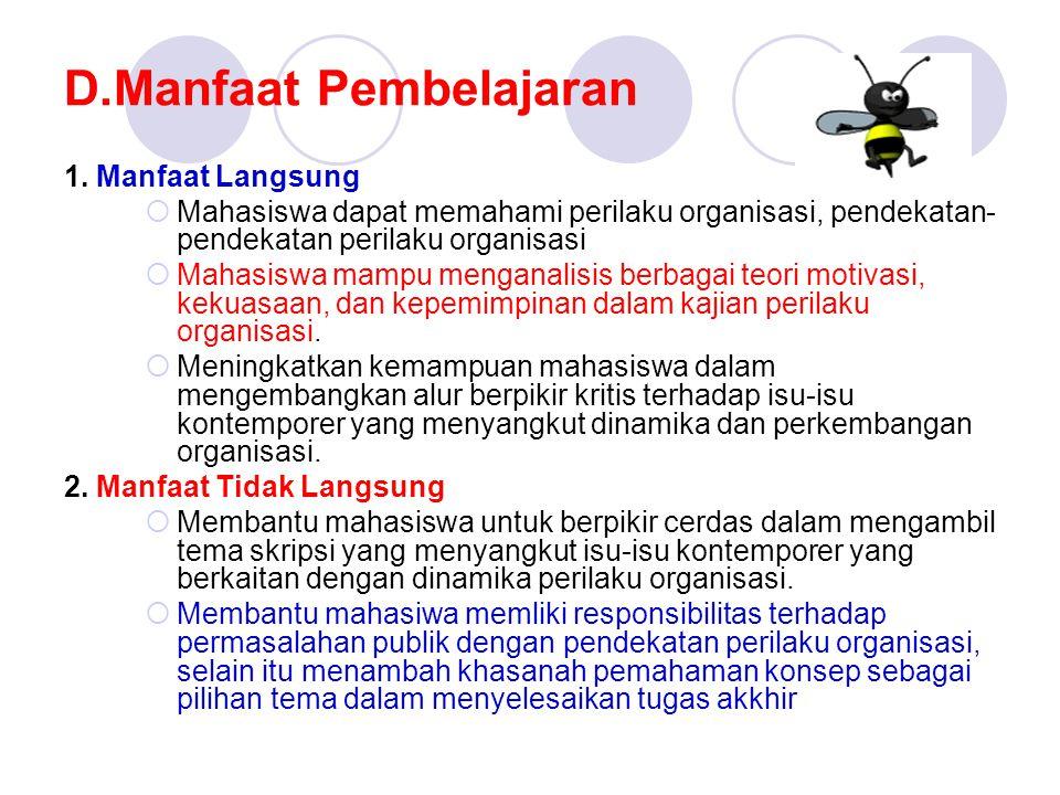 D.Manfaat Pembelajaran 1.