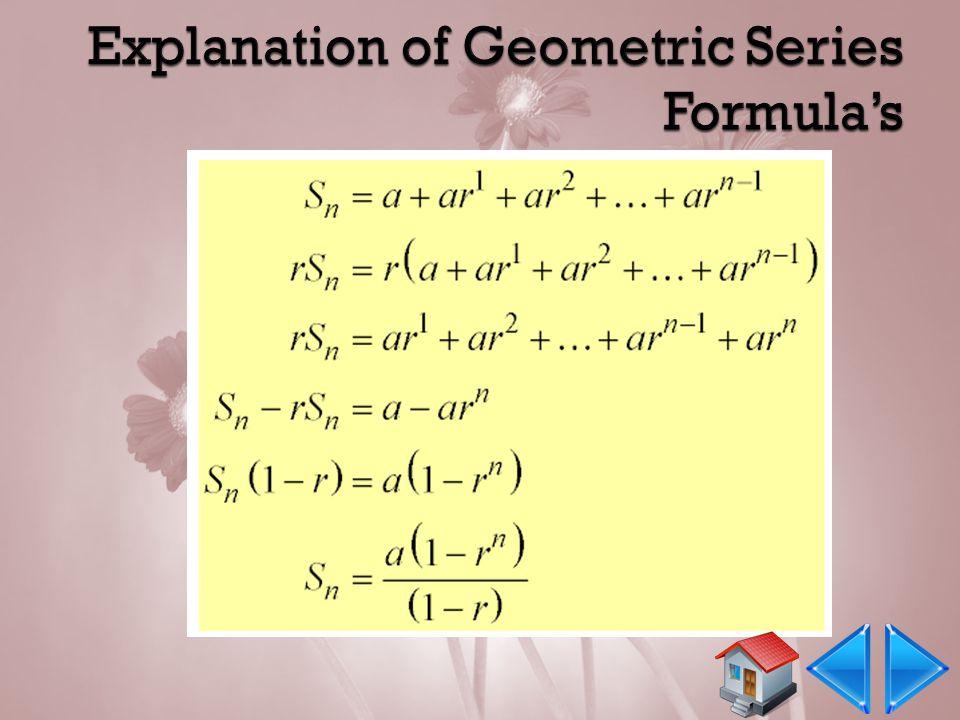  Rumus Sn dari Deret Geometri