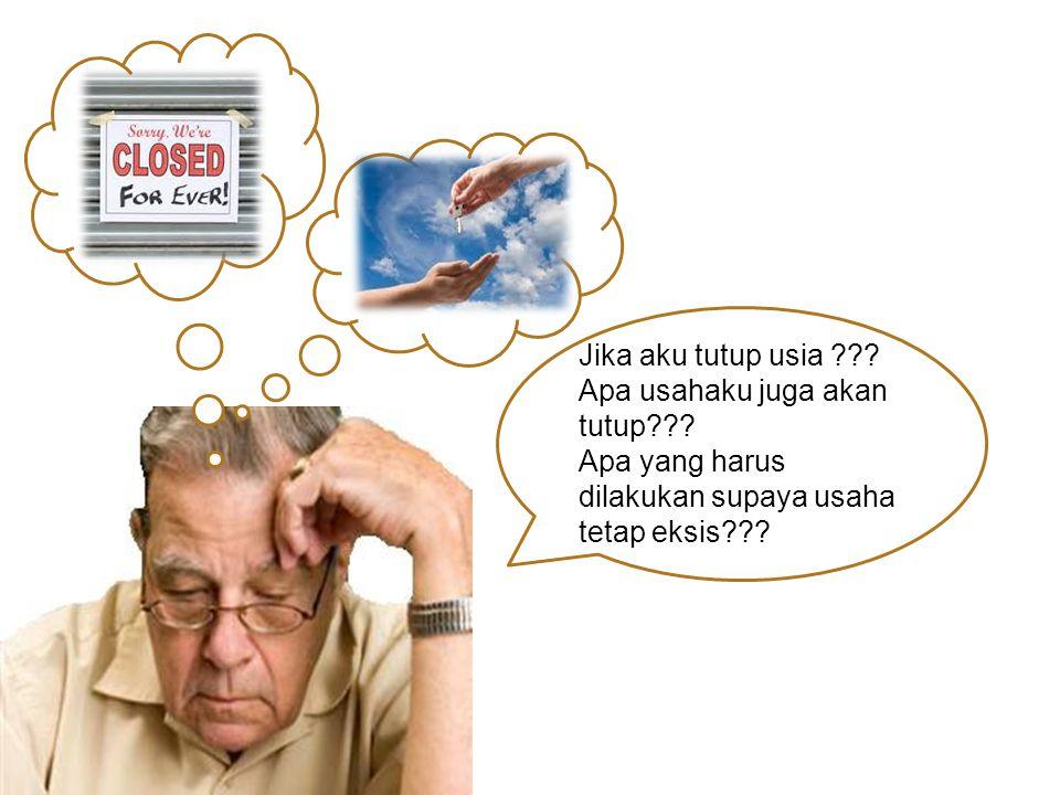 Jika aku tutup usia ??? Apa usahaku juga akan tutup??? Apa yang harus dilakukan supaya usaha tetap eksis???