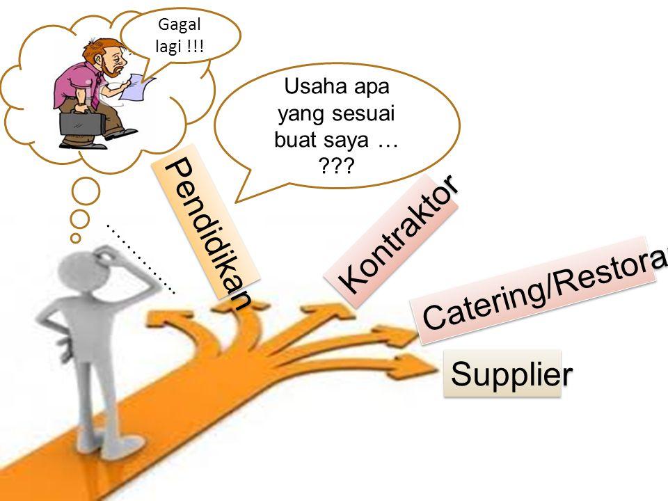 Kontraktor Catering/Restoran Supplier ………….. Pendidikan Usaha apa yang sesuai buat saya … ??? Gagal lagi !!!