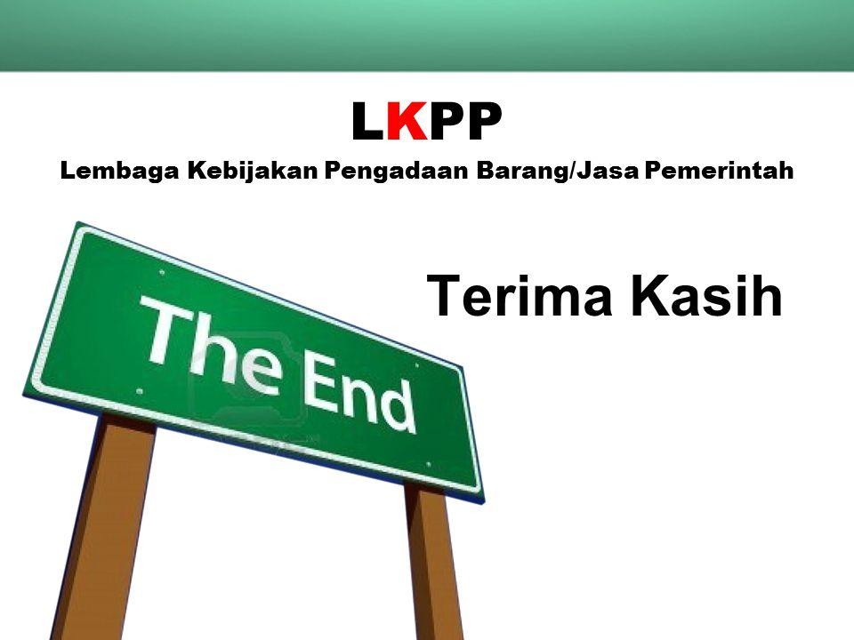 Terima Kasih LKPP Lembaga Kebijakan Pengadaan Barang/Jasa Pemerintah