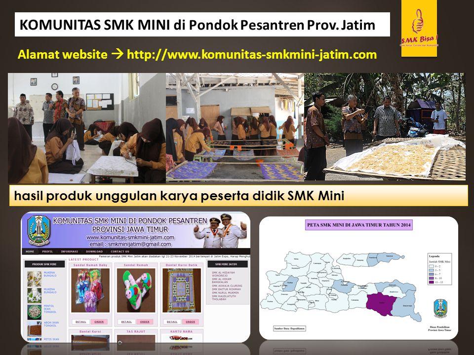 KOMUNITAS SMK MINI di Pondok Pesantren Prov. Jatim Alamat website  http://www.komunitas-smkmini-jatim.com hasil produk unggulan karya peserta didik S