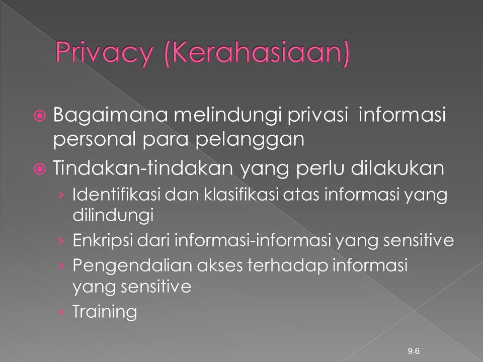  Bagaimana melindungi privasi informasi personal para pelanggan  Tindakan-tindakan yang perlu dilakukan › Identifikasi dan klasifikasi atas informas
