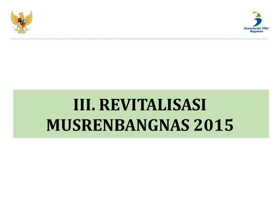 III. REVITALISASI MUSRENBANGNAS 2015