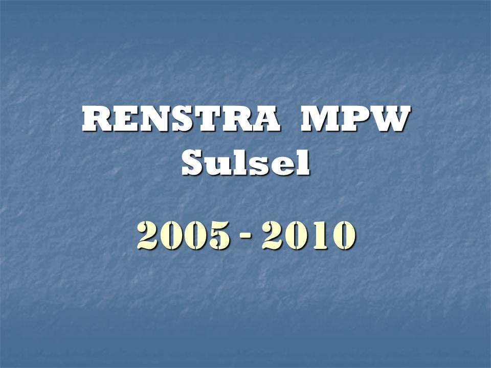 RENSTRA MPW Sulsel 2005 - 2010