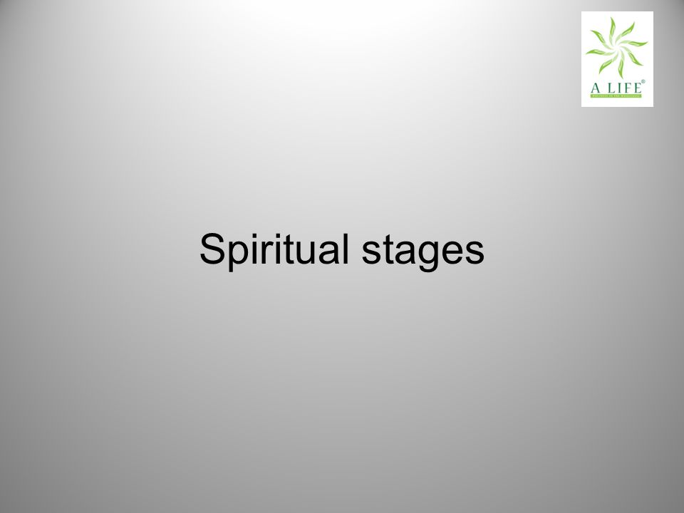 Spiritual stages
