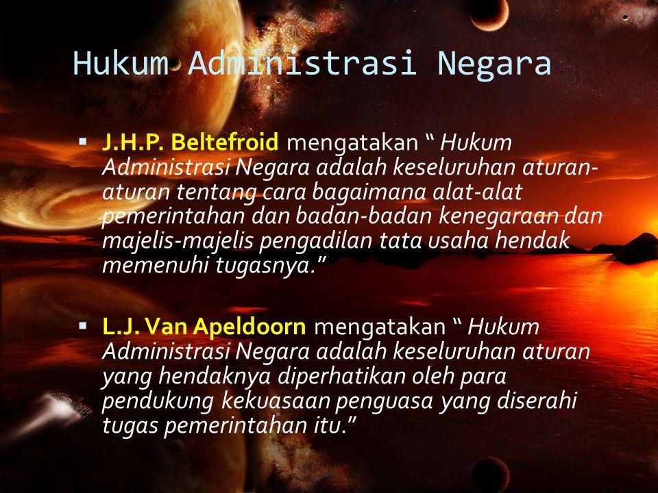 Hukum Administrasi Negara  J.H.P.