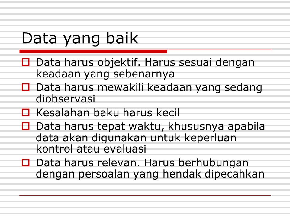 Cara pengumpulan data 1.