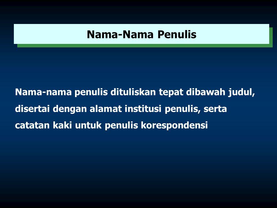 Judul tulisan hendaknya menggambarkan isi pokok tulisan secara ringkas dan jelas. Judul Artikel PKMI tidak harus sama persis dengan Judul Kegiatan sum