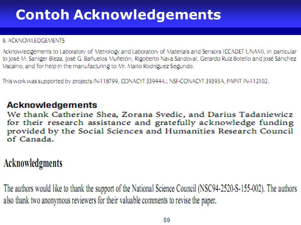 Contoh Acknowledgements 59