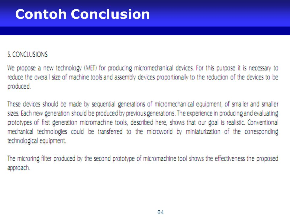Contoh Conclusion 64