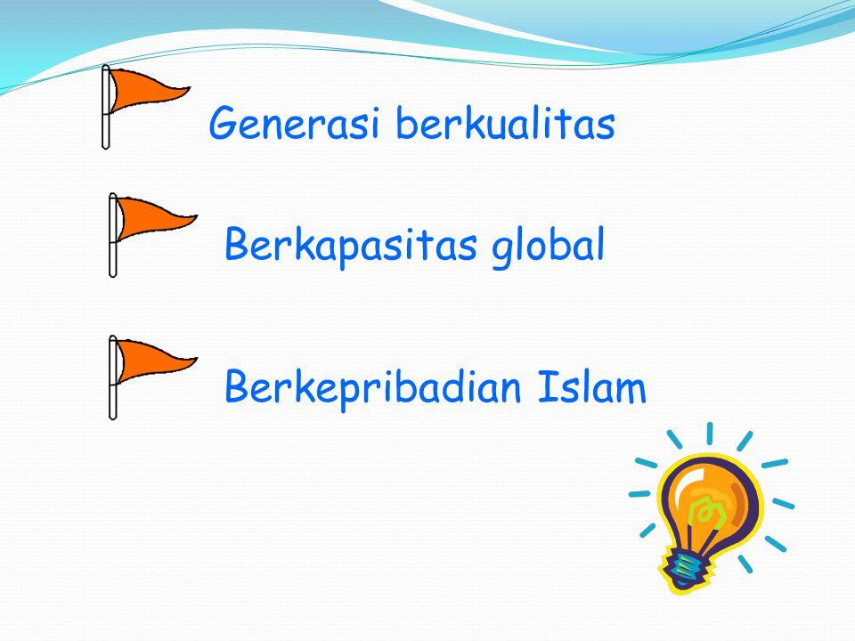 Generasi berkualitas Berkapasitas global Berkepribadian Islam