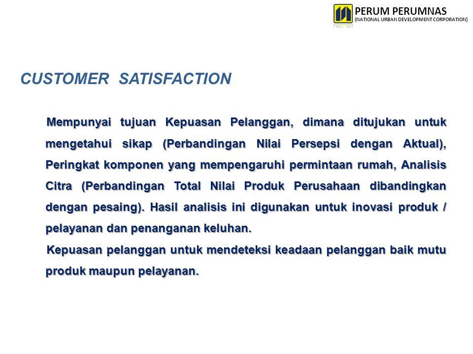CUSTOMER SATISFACTION Mempunyai tujuan Kepuasan Pelanggan, dimana ditujukan untuk mengetahui sikap (Perbandingan Nilai Persepsi dengan Aktual), Pering
