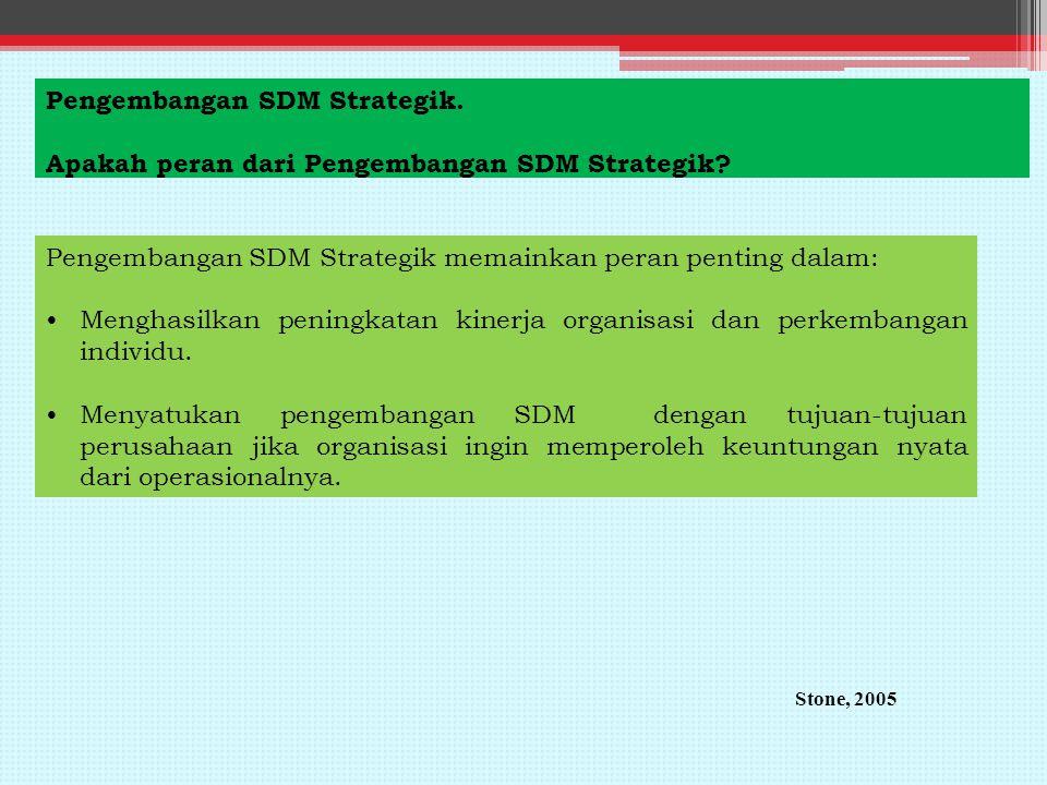 Pengembangan SDM Strategik. Apakah peran dari Pengembangan SDM Strategik.