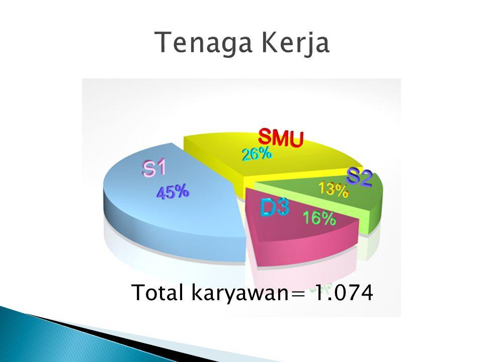 Total karyawan= 1.074