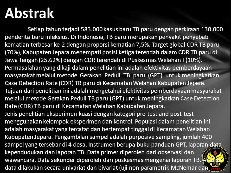 Kata Kunci TB Paru, GPT, CDR Pulmonary Tuberculosis, GPT, CDR