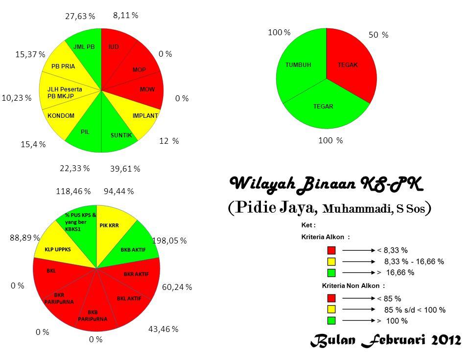 Aceh Utara 0 % 26,92 % 5,28 % 18,27 % 13,99 % 8,77 % 5,43 % 8,76 % 13,62 % 96,67 % 93,75 % 48,94 % 102,99 % 0 % 97,01 % 100 % 66,67 % 0 % Aceh Selatan Wilayah Binaan KS – PK (Aceh Selatan, Ihya, SE)