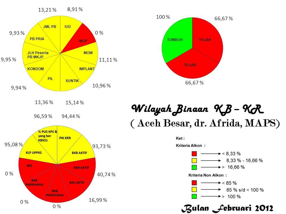 3,27 % 0 % 100 % 12,4 % 21,29 % 10,69 % 8,01 % 8,94 % 7,97 % 14,35 % 94,12 % 86,47 % 52 % 50,07 % 0 % 97,18 % 99,87 % 100 % 66,67 % 0 % Bener Meriah Wilayah Binaan KB-KR (Bener Meriah, Cut Rosaminora, SE )