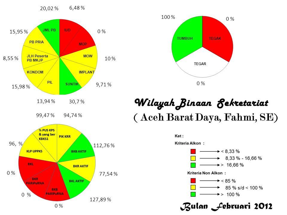 6,48 % 0 % 10 % 9,71 % 30,7 % 13,94 % 15,98 % 8,55 % 15,95 % 20,02 % 94,74 % 112,76 % 77,54 % 127,89 % 0 % 96, % 99,47 % 100 % 0 % Aceh Barat Daya Wil