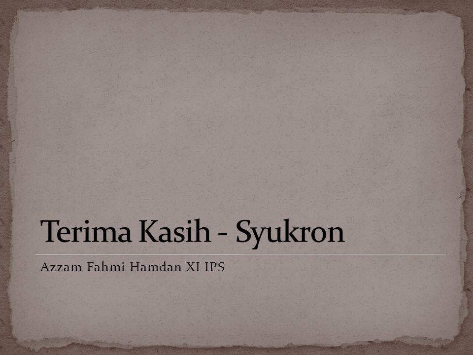 Azzam Fahmi Hamdan XI IPS