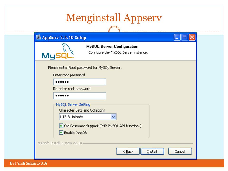 Menginstall Appserv By Fandi Susanto S.Si
