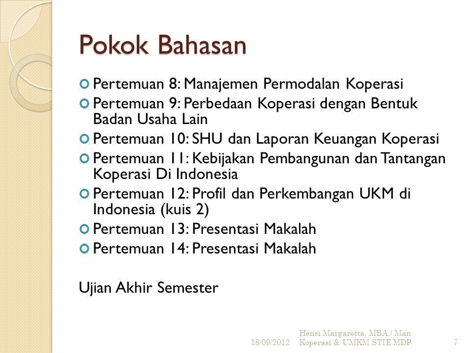 Referensi 1.Drs. Subandi, MM., 2010, Ekonomi Koperasi, Alfabeta, Bandung.