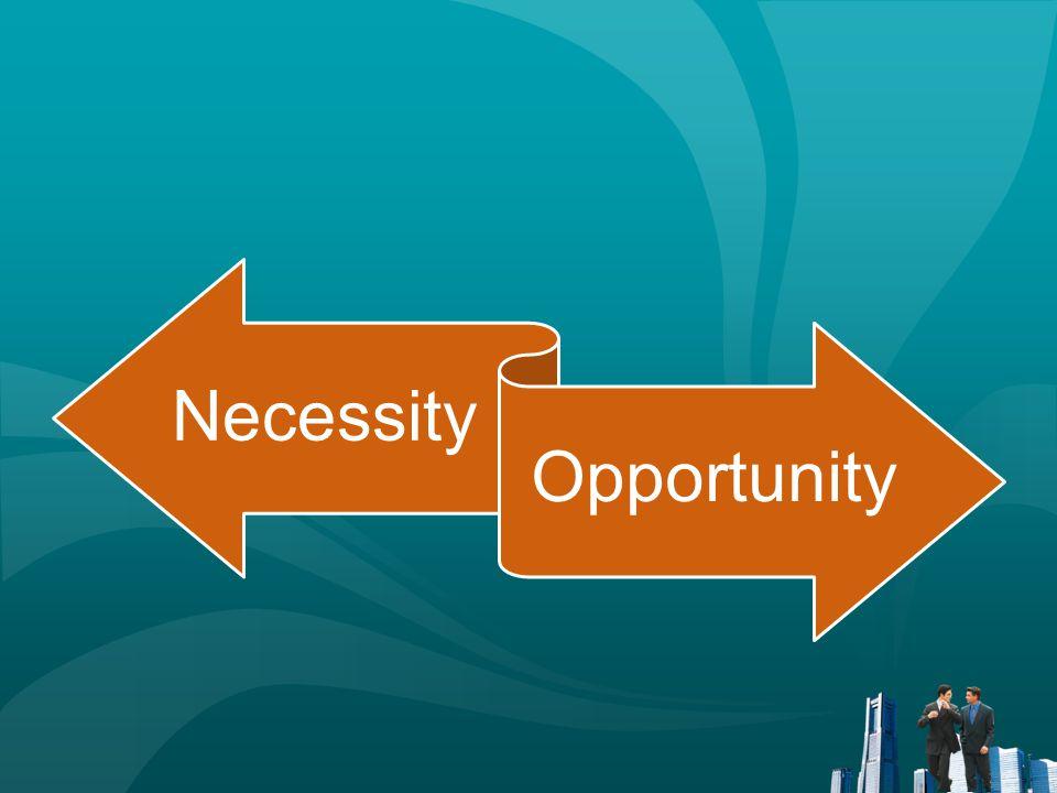 Necessity Opportunity