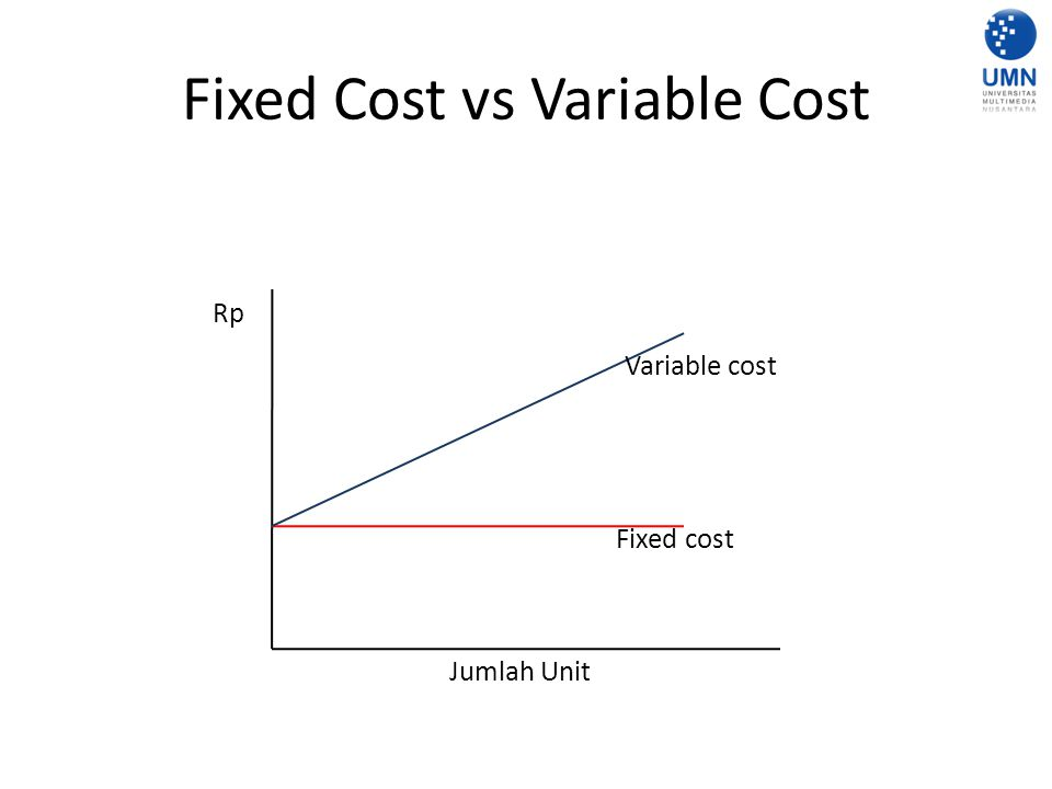Fixed Cost vs Variable Cost Rp Jumlah Unit Fixed cost Variable cost