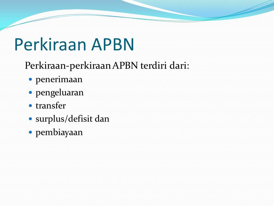 Sejarah Format APBN Selama TA 1969/70 sampai dengan 1999/2000 APBN menggunakan format T-account.