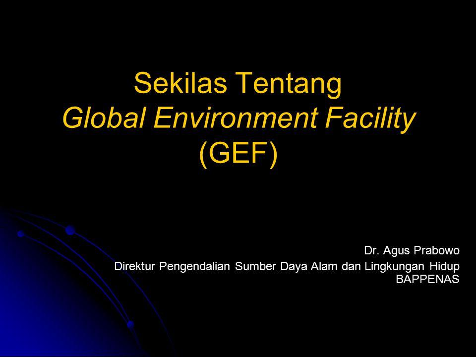 Sekilas Tentang Global Environment Facility (GEF) Dr.