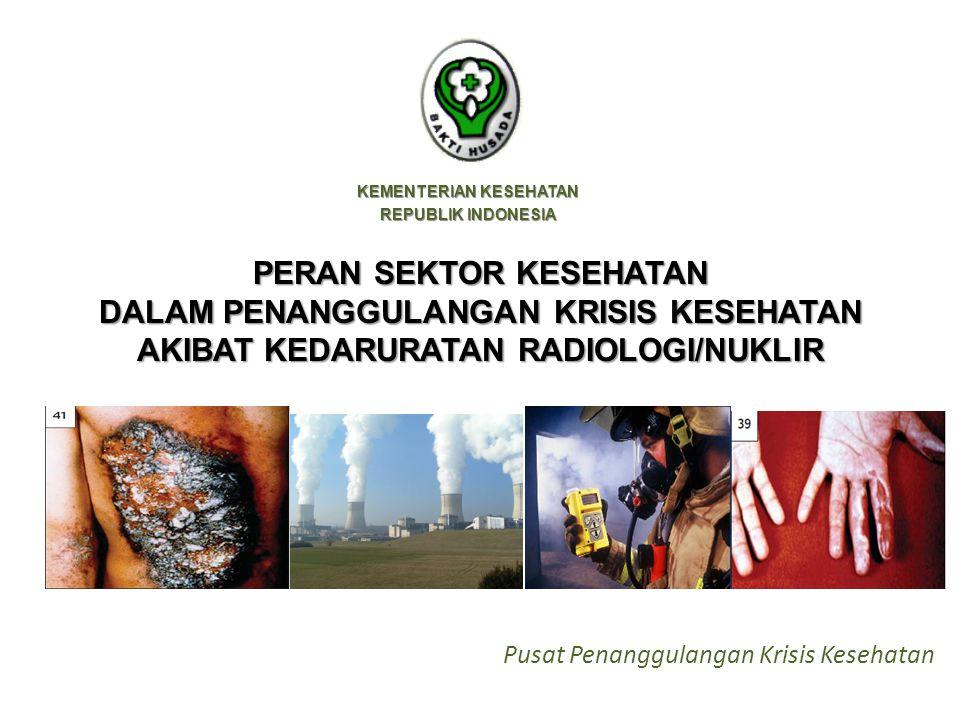 KEMENTERIAN KESEHATAN REPUBLIK INDONESIA PERAN SEKTOR KESEHATAN DALAM PENANGGULANGAN KRISIS KESEHATAN AKIBAT KEDARURATAN RADIOLOGI/NUKLIR Pusat Penanggulangan Krisis Kesehatan