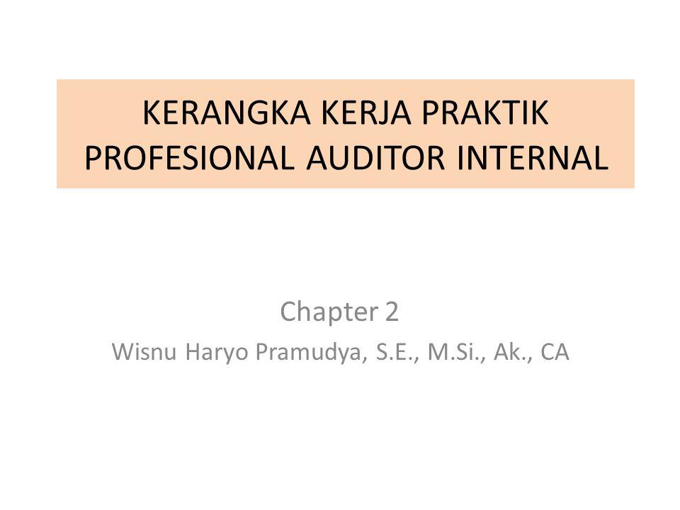 KERANGKA KERJA PRAKTIK PROFESIONAL AUDITOR INTERNAL Chapter 2 Wisnu Haryo Pramudya, S.E., M.Si., Ak., CA