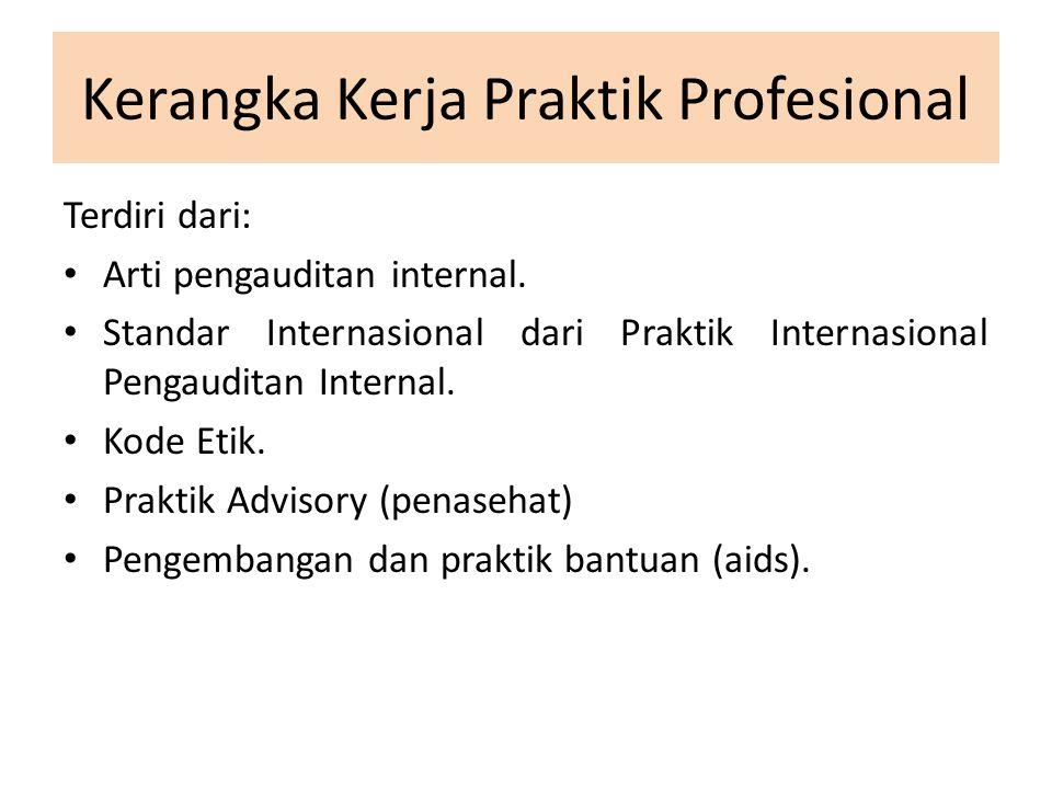 Kerangka Kerja Praktik Profesional Terdiri dari: Arti pengauditan internal.