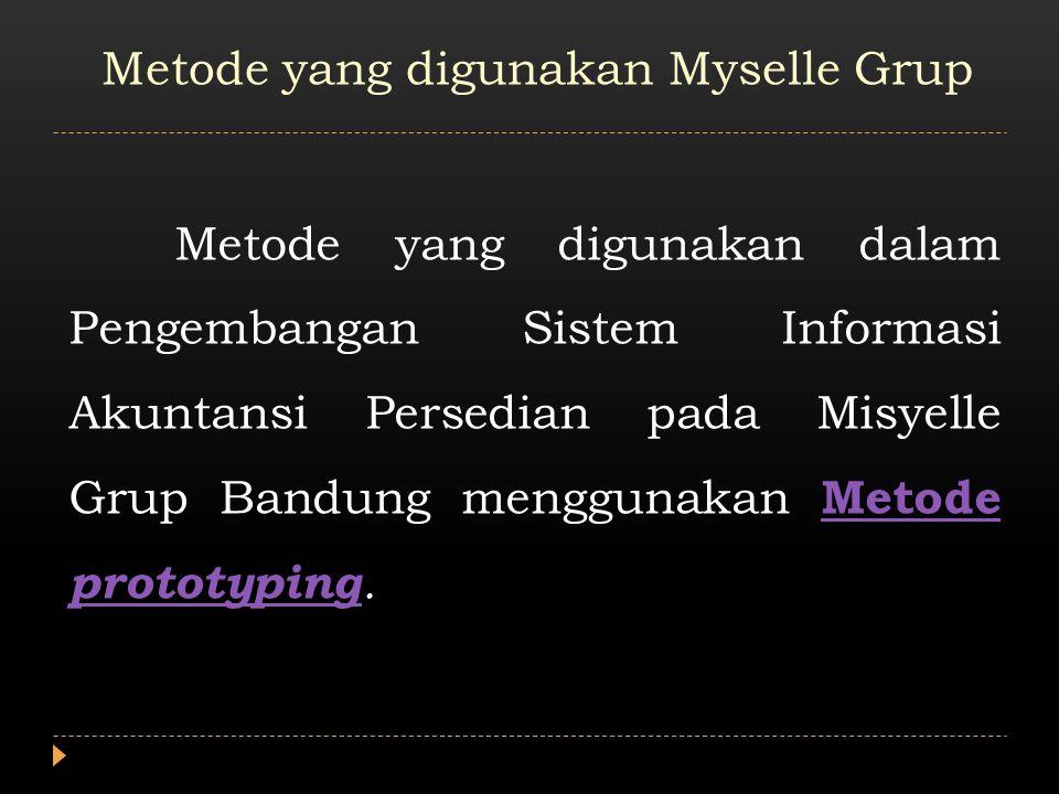 Metode Prototyping Metode Prototyping merupakan model kerja dari sebuah sistem informasi akuntansi yang belum lengkap.