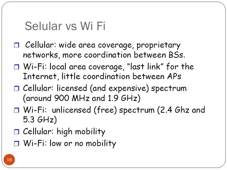 Selular vs Wi Fi 18
