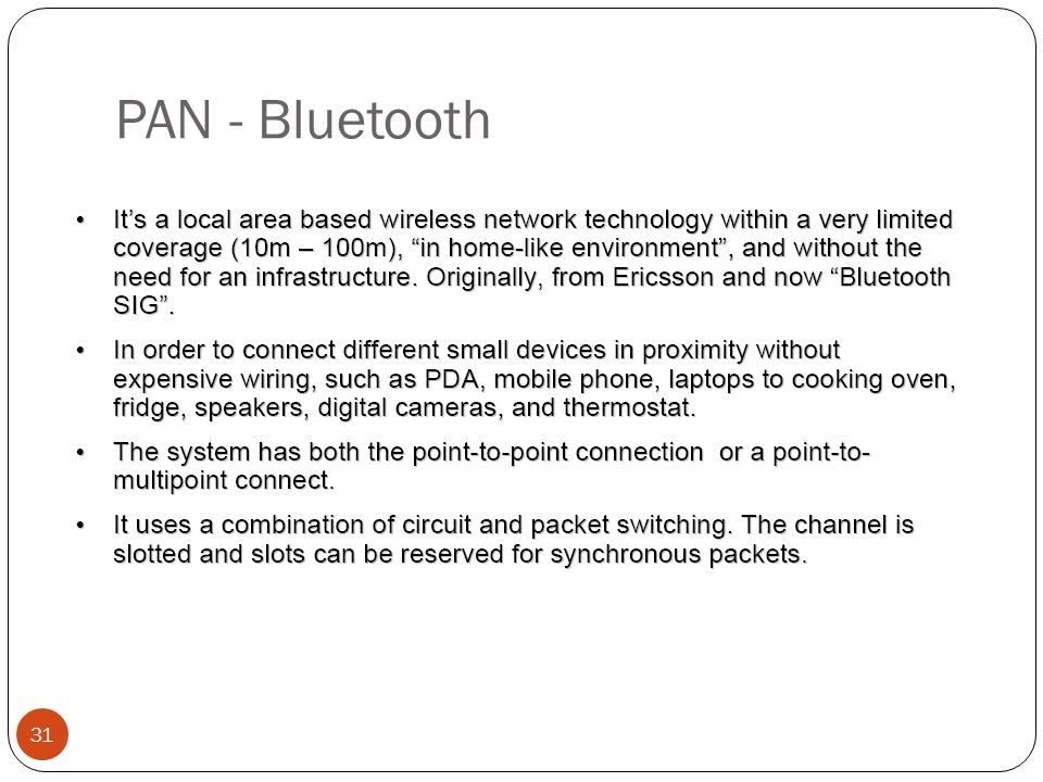 PAN - Bluetooth 31