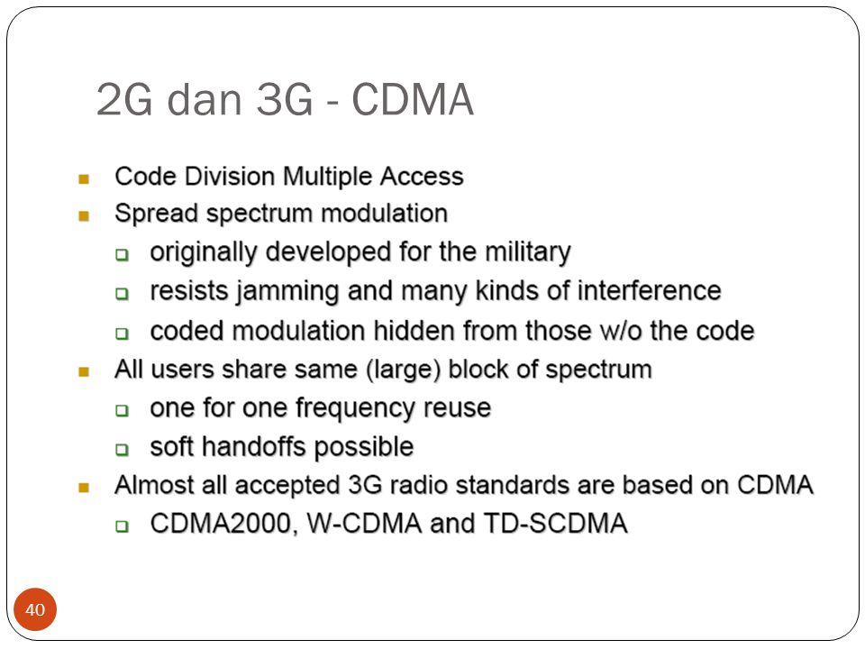 2G dan 3G - CDMA 40