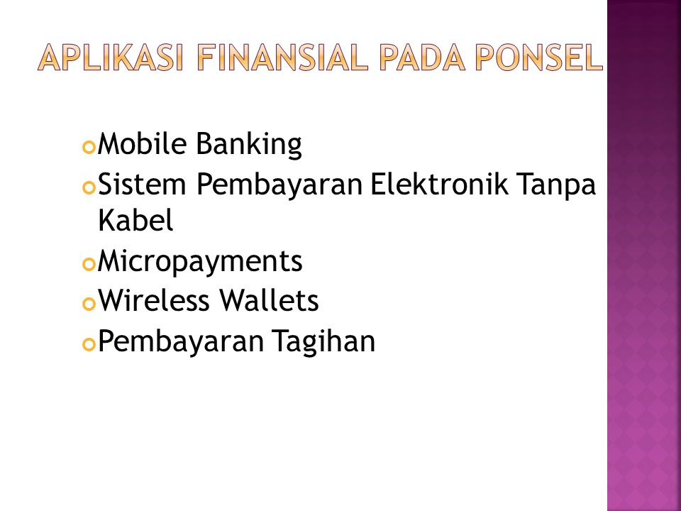 Mobile Banking Sistem Pembayaran Elektronik Tanpa Kabel Micropayments Wireless Wallets Pembayaran Tagihan