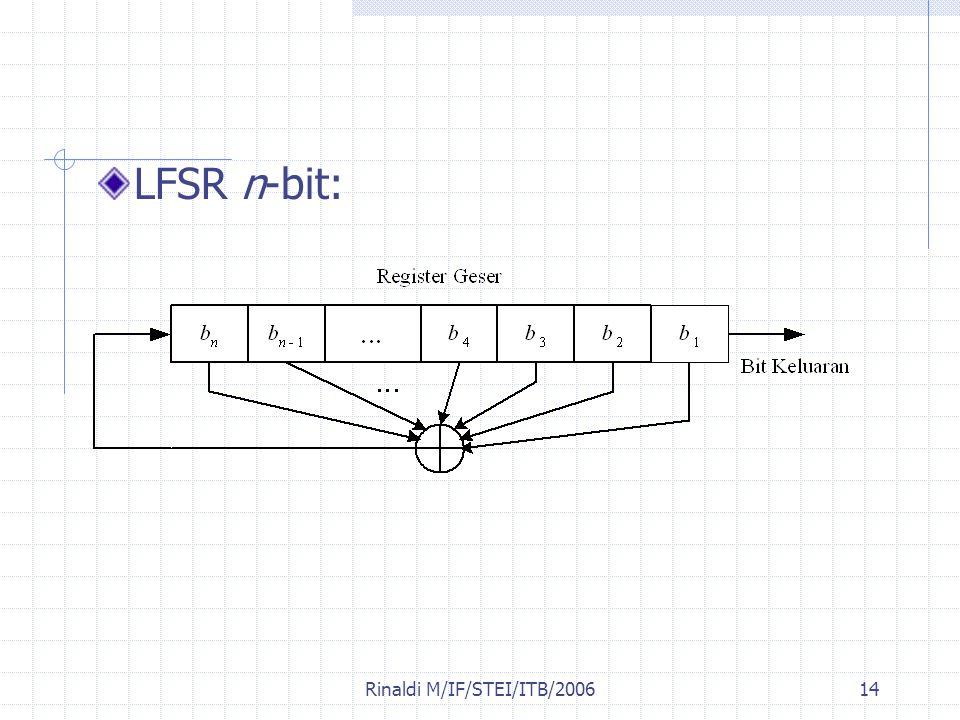 Rinaldi M/IF/STEI/ITB/200614 LFSR n-bit: