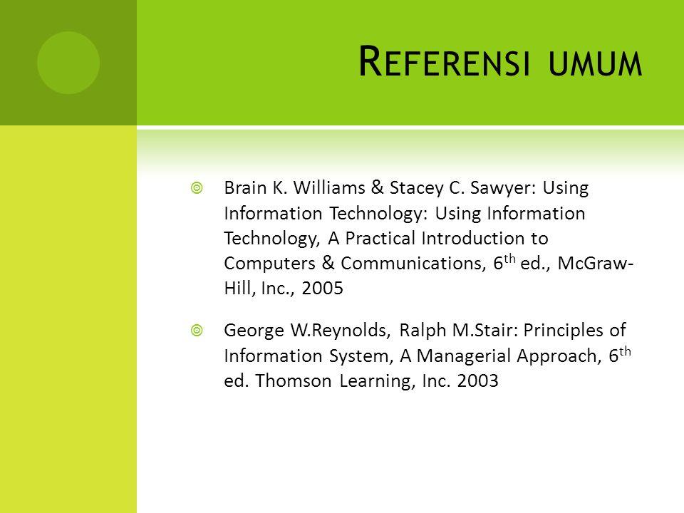 R EFERENSI UMUM  Brain K.Williams & Stacey C.