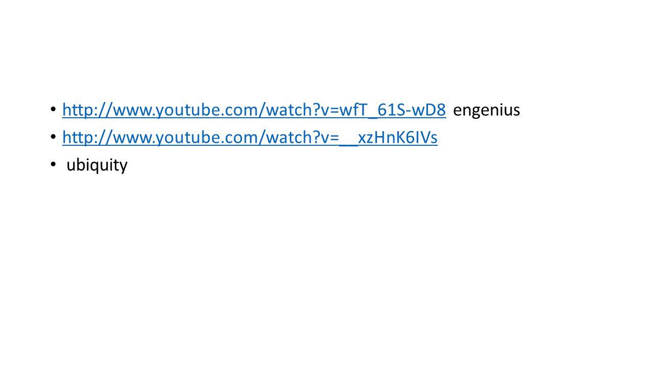 http://www.youtube.com/watch?v=wfT_61S-wD8 engenius http://www.youtube.com/watch?v=wfT_61S-wD8 http://www.youtube.com/watch?v=__xzHnK6IVs ubiquity