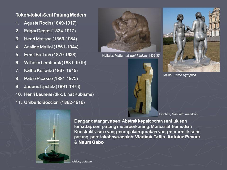 Pematung-pematung Inggris: Alexander Calder, Henry Moore, Barbara Hepworth, Reg Butler, Kenneth Armitage, Lyn Chadwick.