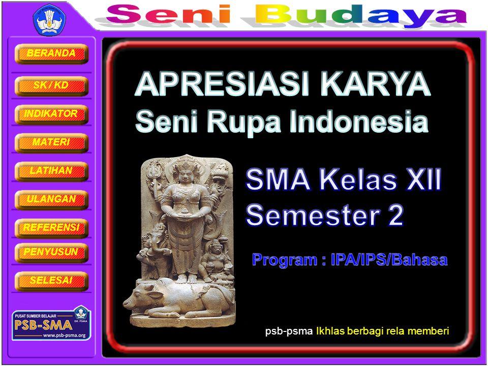 BERANDA SK / KD INDIKATOR MATERI LATIHAN ULANGAN REFERENSI PENYUSUN SELESAI Garuda Wisnu Kencana, atau GWK, merupakan patung Dewa Wisnu yang berdiri tegak di Bukit Ungasan Jimbaran Bali (selatan bandara).