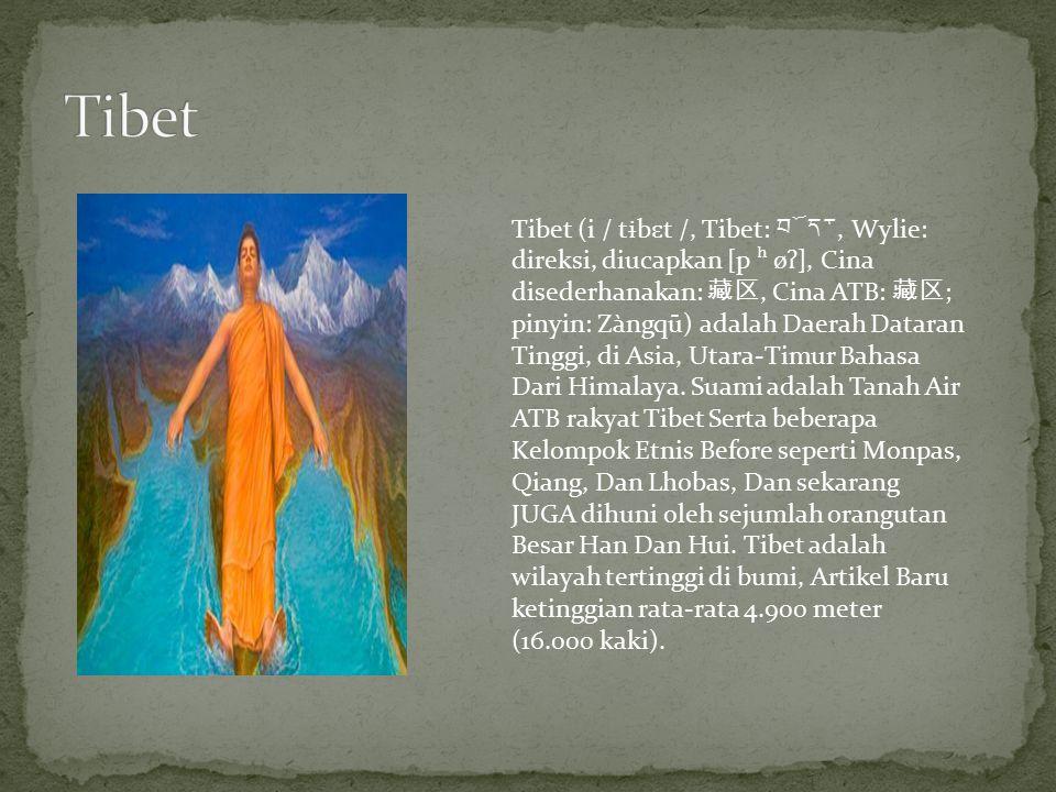 Tibet (i / t ɨ b ɛ t /, Tibet: བོད་, Wylie: direksi, diucapkan [p ʰ ø ʔ ], Cina disederhanakan: 藏区, Cina ATB: 藏区 ; pinyin: Zàngqū) adalah Daerah Datar