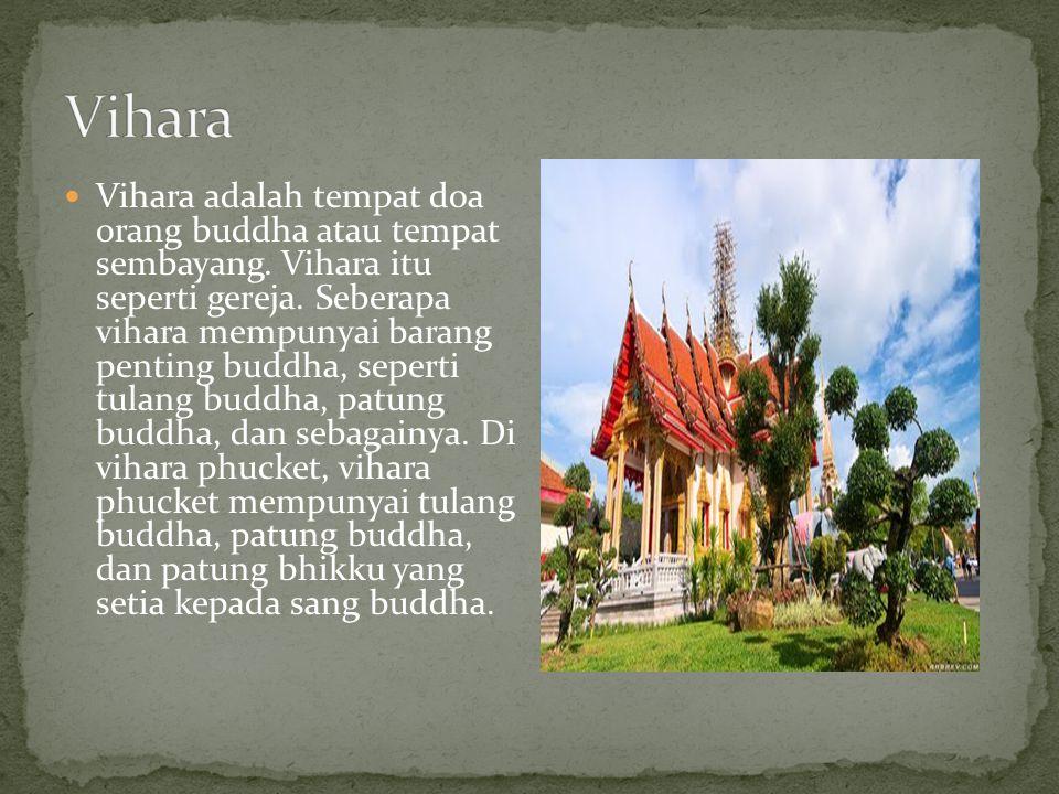 Vihara adalah tempat doa orang buddha atau tempat sembayang. Vihara itu seperti gereja. Seberapa vihara mempunyai barang penting buddha, seperti tulan