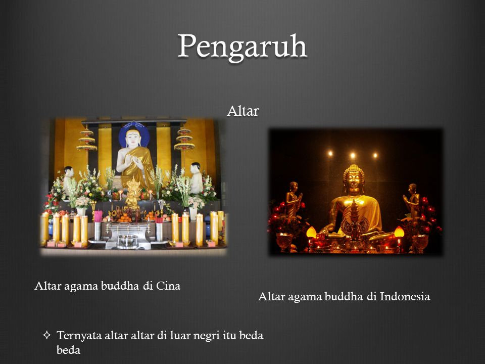 Pengaruh Altar Altar agama buddha di Cina Altar agama buddha di Indonesia  Ternyata altar altar di luar negri itu beda beda