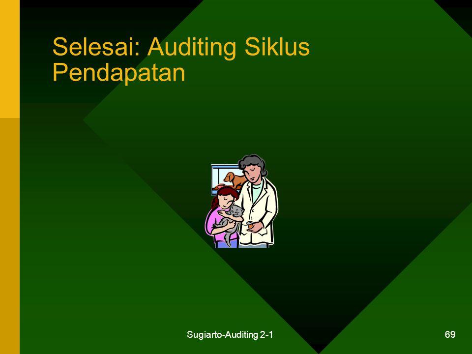 Sugiarto-Auditing 2-1 69 Selesai: Auditing Siklus Pendapatan