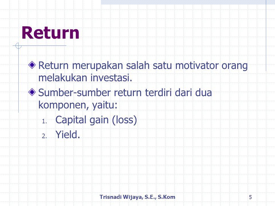 Klasifikasi Return Return dapat dibedakan menjadi: 1.